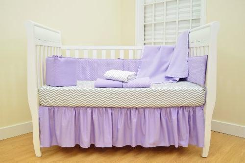 American Baby Company Natural Crib for Crib Gray Zigzag, for