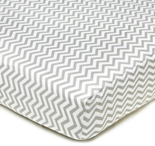 cotton percale fitted crib sheet