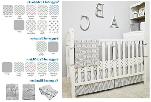 American Natural Cotton Percale Crib for Crib and Gray Soft Breathable, for Boys Girls