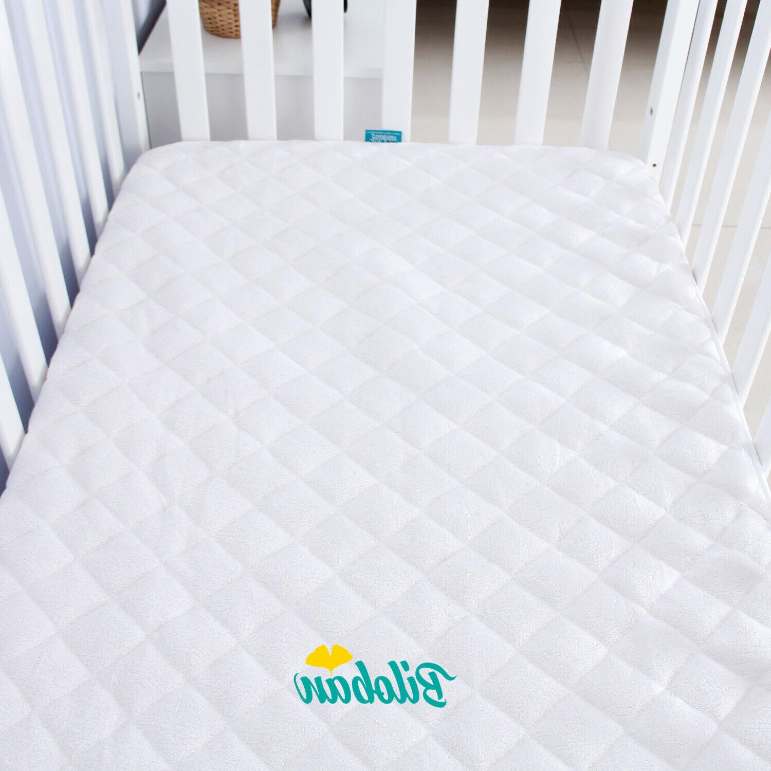 Crib Pad Soft Bamboo Surface Cover