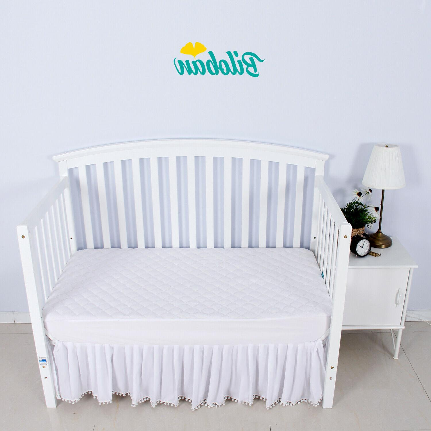Crib Mattress Soft Bamboo Fleece Surface Baby Waterproof