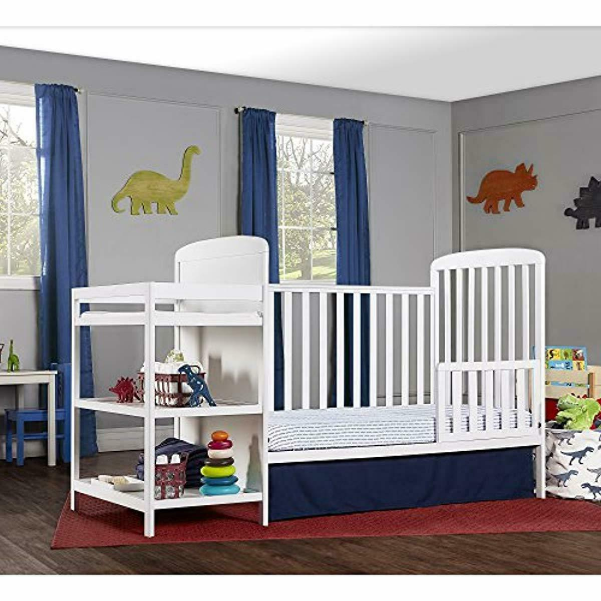 4 Size Crib and Table Combo size bed