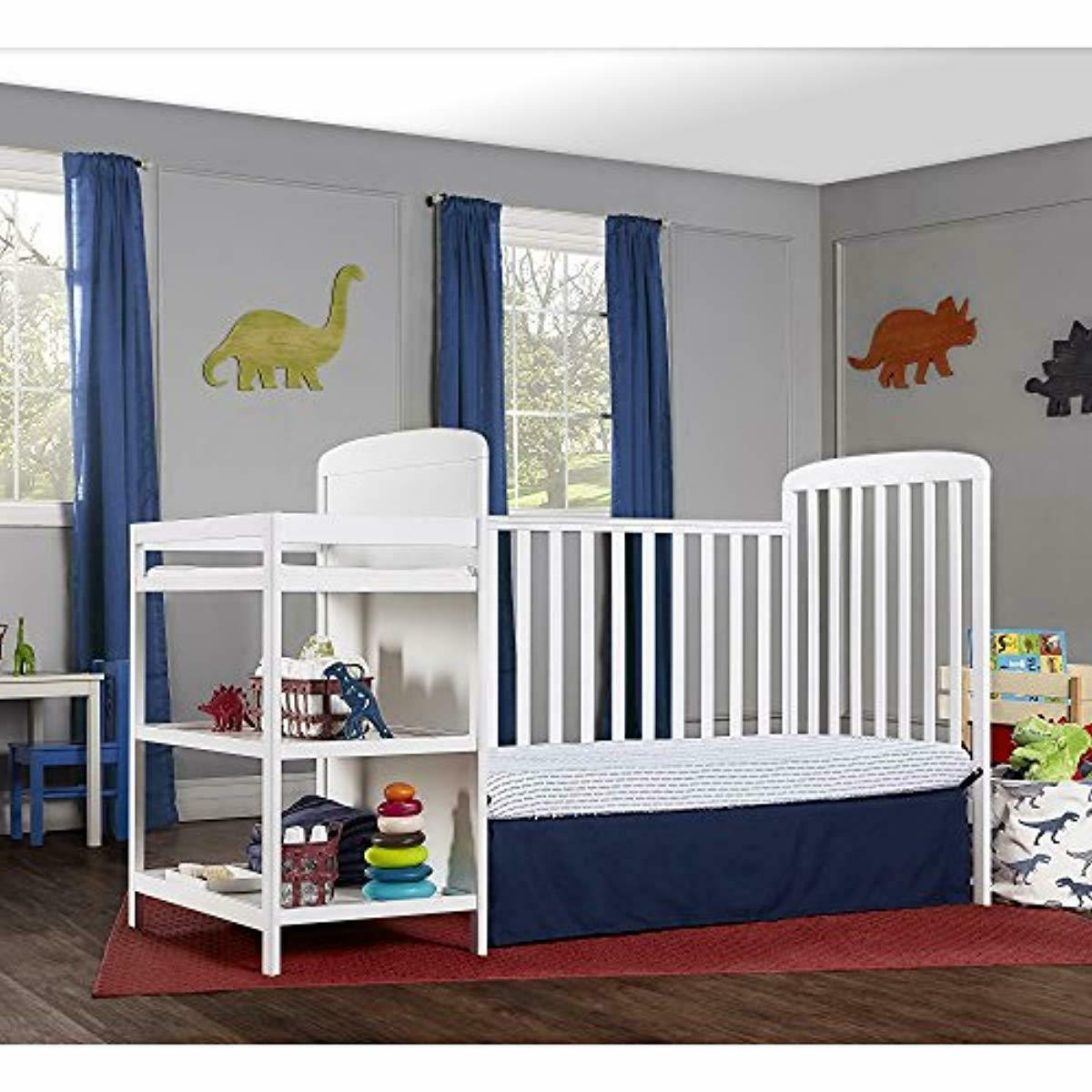 4 in Size Crib and Table Combo full size bed