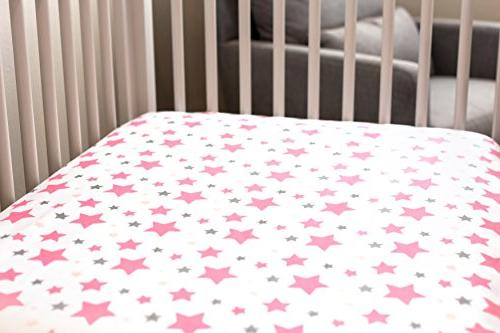 Best Crib for Adorable Fitted White Alphabet Stars Sheet & Washcloth Fits All Standard Babies Soft!