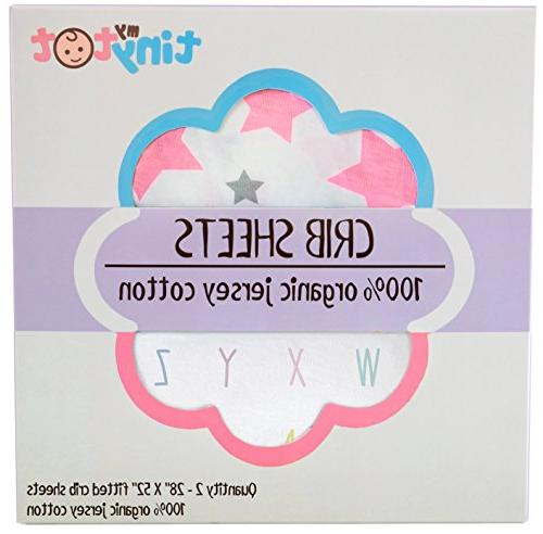 Best for Adorable Fitted Pink White and Sheet & Bonus Washcloth Fits All Standard Crib's Mattresses for Babies Soft!