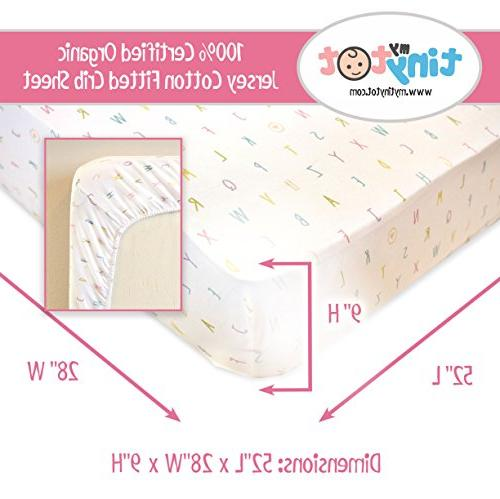 Best Organic Sheets for Adorable Pink White Sheet Washcloth Standard Mattresses for Babies Nursery Room, Soft!