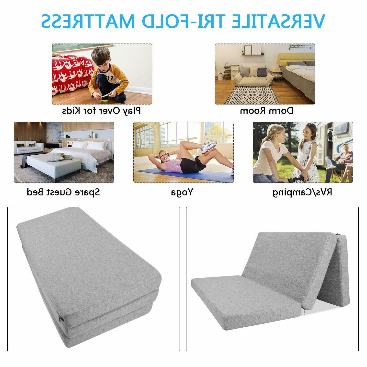 Infant Baby Toddlers Crib Tri-fold Play Firm