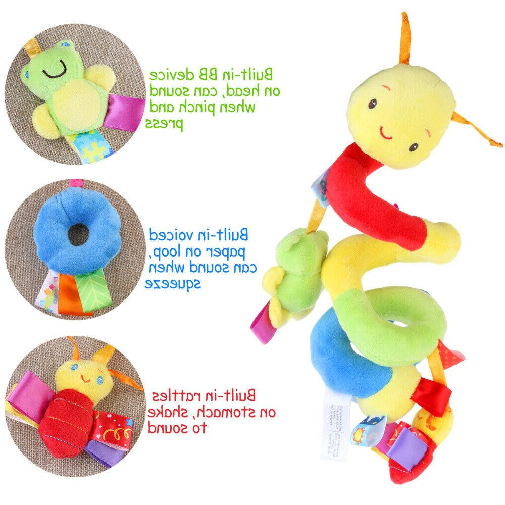 Newborn Baby Bed Rattle Mobile Toy Ring Bell Crib