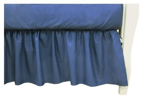 Percale Cotton Dust Ruffle, Royal
