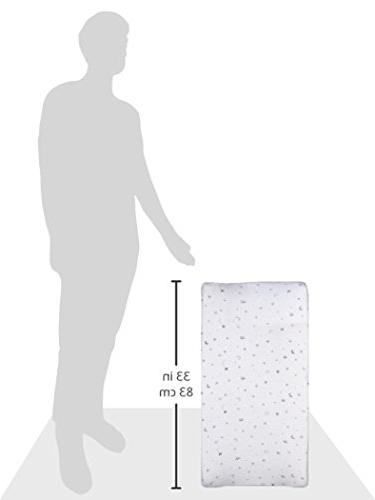 American Baby Printed 100% Jersey Fitted Contoured Table Pad Cover, also with Travel Mattress, Grey