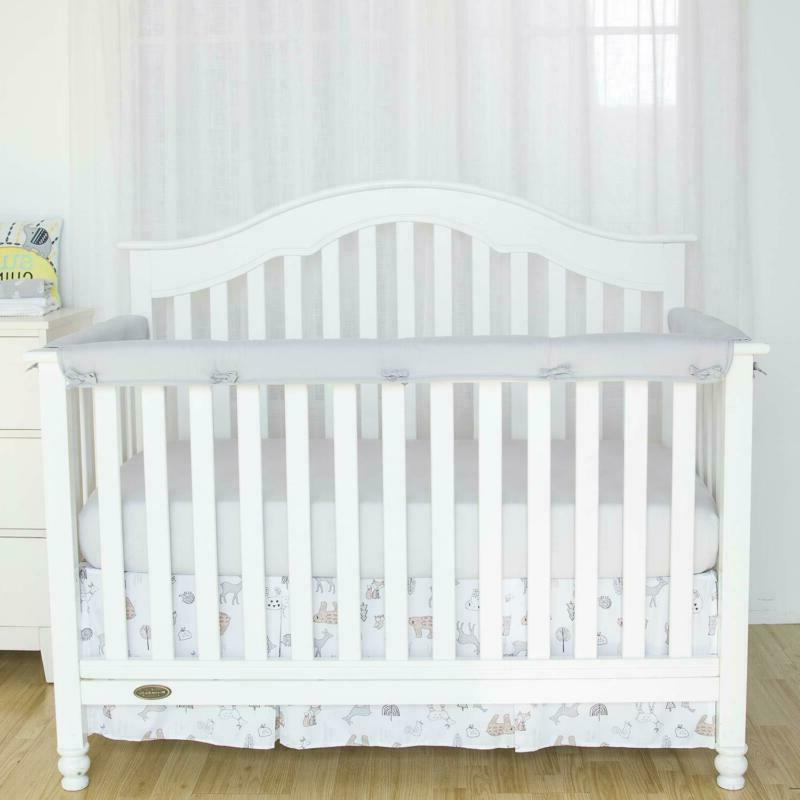 tillyou 3 piece padded baby crib rail