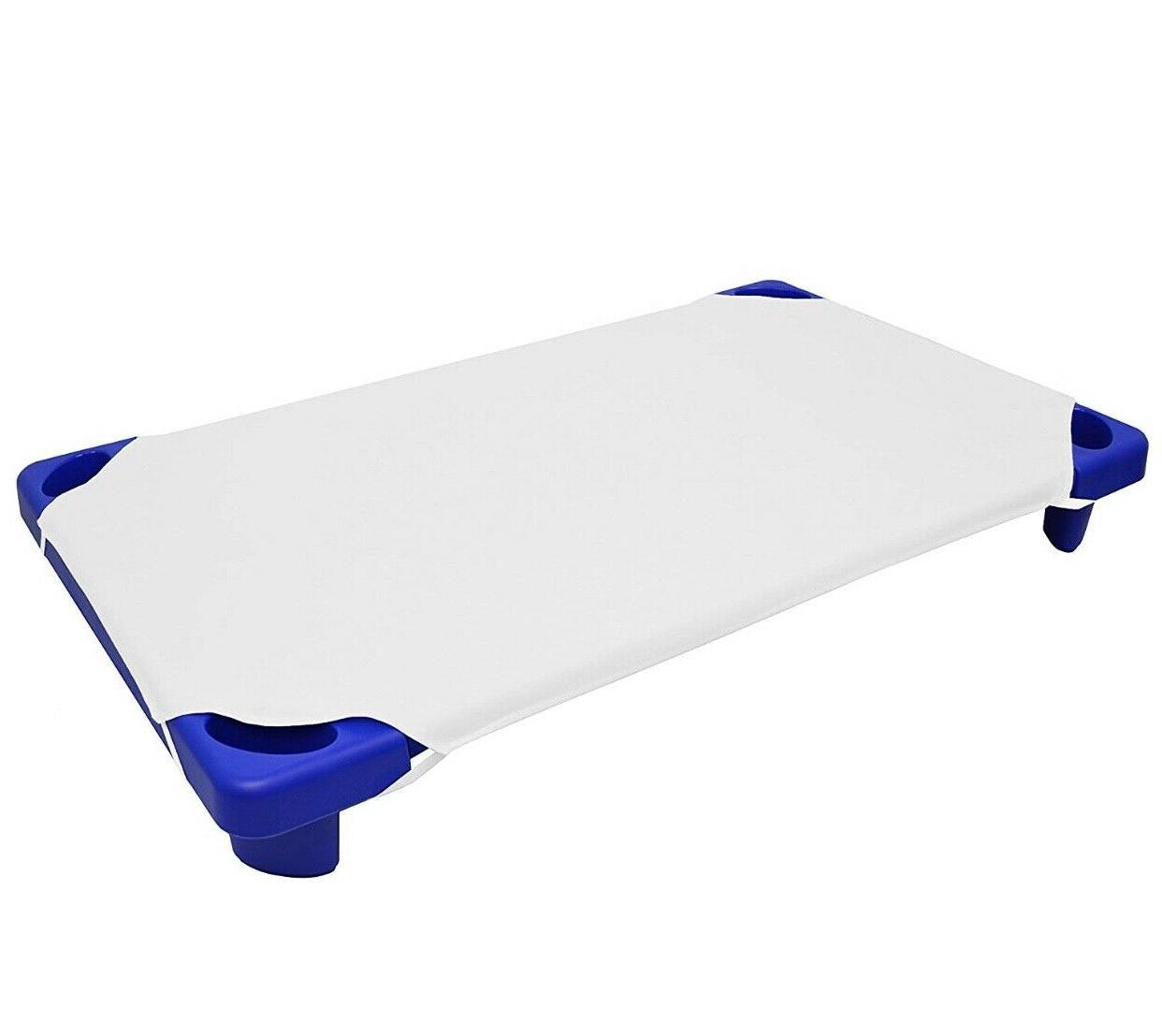 toddler size day care cot sheet white