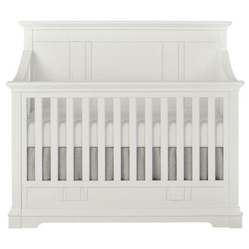 white 5 in 1 convertible crib parker