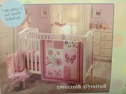 Little Bedding By NoJo Butterfly Blossoms 4 Piece Crib Set C