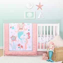 Mila Floral Crib Bedding Set for Baby 3 PC Nursery Quilt She