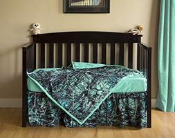 NEW 3PC MUDDY GIRL SERENITY  CAMO CAMOUFLAGE BABY CRIB SET S