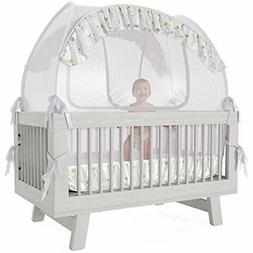 Nahbou Crib Netting Baby Tent - Canopy Cover To Keep From Cl