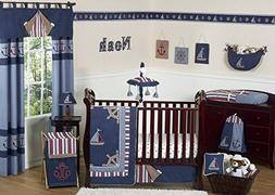 Sweet Jojo Designs 11-Piece Nautical Nights Blue and White S