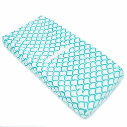 NEW American Baby Changing Pad Cover - Aqua Sea Waves