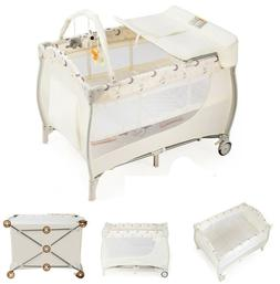 Portable Baby Crib Folding Bassinet With Changing Table Infa