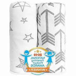 Portable Crib Set Mini Baby Mattress Cover Stretchy Fitted P