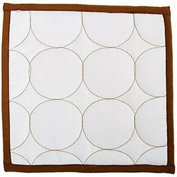 quilted playard bedding circles white chocolate 3