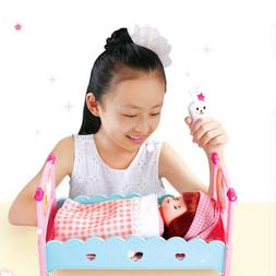 ROLE PLAYING GAME BABY DOLL BED CRIB MAKEUP CLOTHES SET KID
