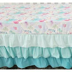 Sahaler Sheets Baby Floral Fitted Crib For Boy And Girl Todd