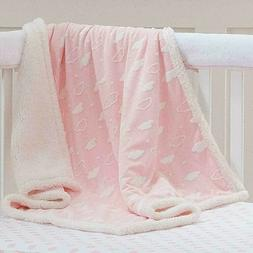 American Baby Company Soft Sherpa Receiving Blanket 3D Pink
