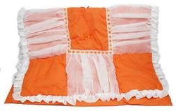Baby Doll Sweet Touch Baby 3 Piece Cradle Bedding Set, Orang