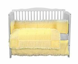 Baby Doll Sweet Touch Baby 4 Piece Crib Bedding Set, Yellow