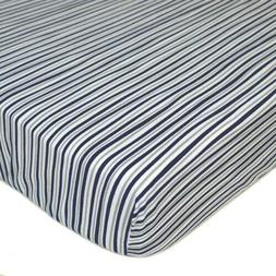 TL Care 100% Cotton Jersey Knit Fitted Crib Sheet for Standa