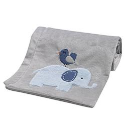 Bedtime Originals Two By Two Elephant Blanket, Blue/Gray