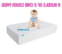 Waterproof Hypoallergenic Fitted Crib Toddler Mattress Prote